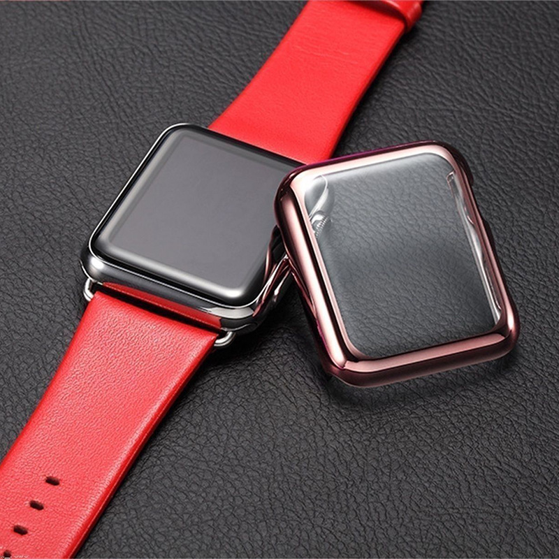 Luxury hard PC protective case for Apple Watch iwatch rose golden