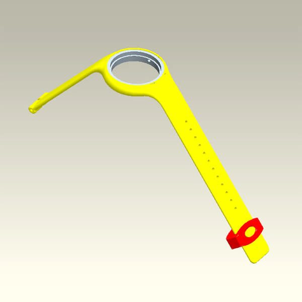 Silicone Mold for Watch Strap Bracelet 3D Drawing