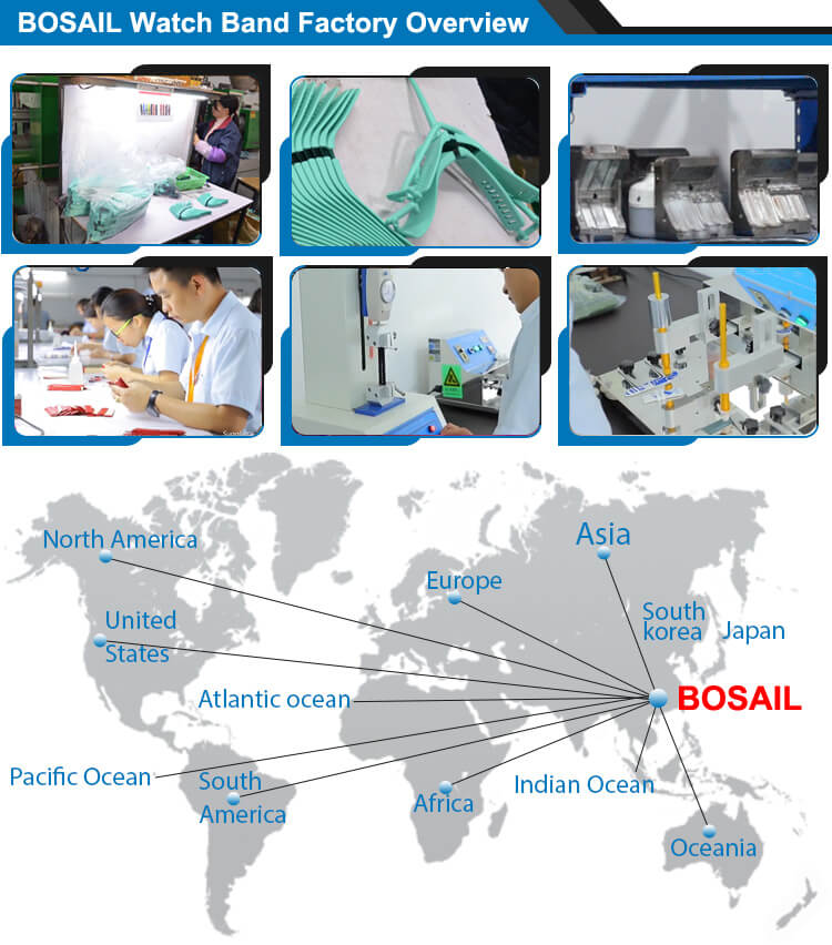 Bosail watch band factory manufacture overview