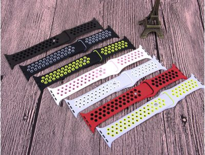 Colorful silicone apple watch bands Nike sport band