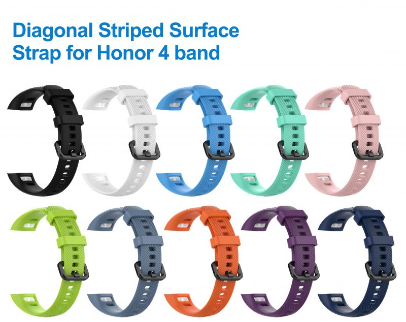 Diagonal Striped Surface strap for Huawei honor 3 4 band