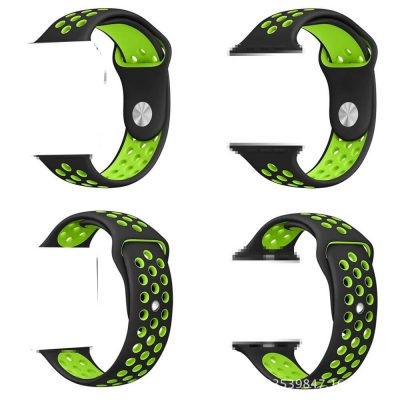 Dual color Soft Silicone strap for Apple Watch Nike Sport Band
