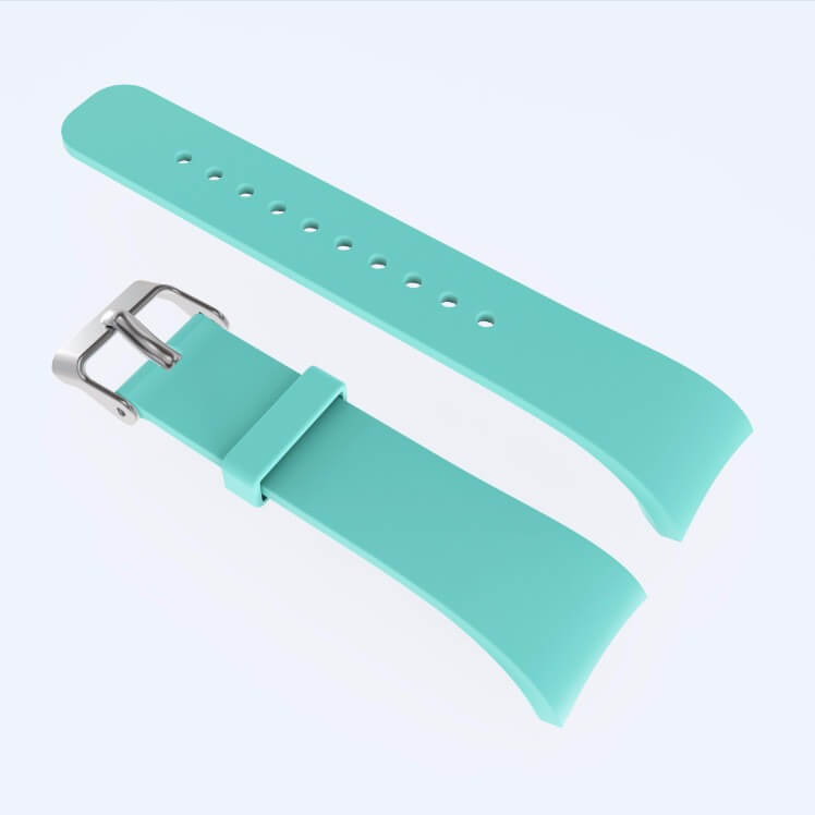 Cyan watch band for Samsung Gear Fit 2 Pro