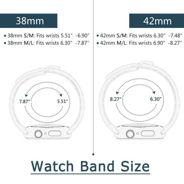 Nike Sport Band for apple watch strap size