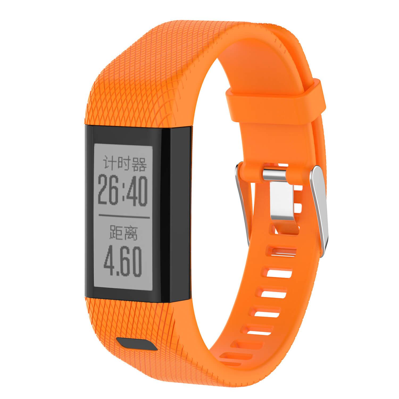 Orange Silicone strap for Garmin vivosmart HR+ Plus smart watch