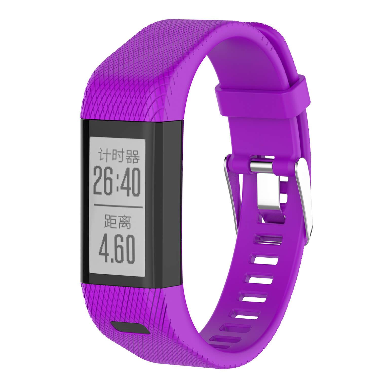 Purple strap for Garmin vivosmart HR Plus