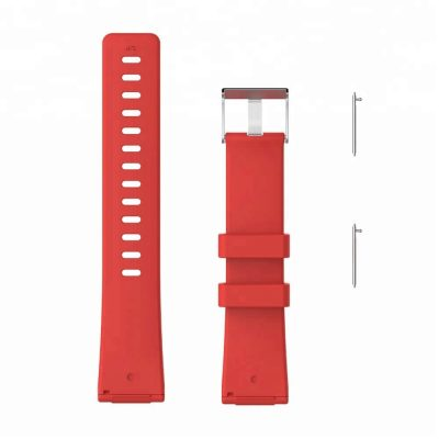 Red-Silicone-Replacement-Watchband-for-fitbit-versa-wristband