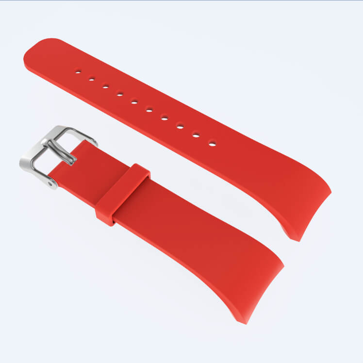 Red Silicone Watch Strap for Samsung Gear Fit 2