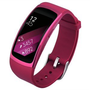 Rose Red Strap for Samsung Gear Fit 2 band replacement