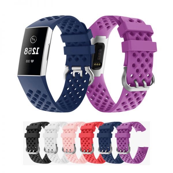 Silicone watch strap for Fitbit Charge 3 Wristband