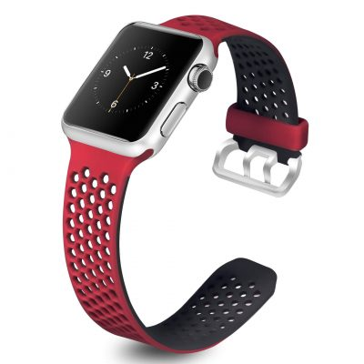 black red Silicone Strap Nike Sport band for Apple Watch