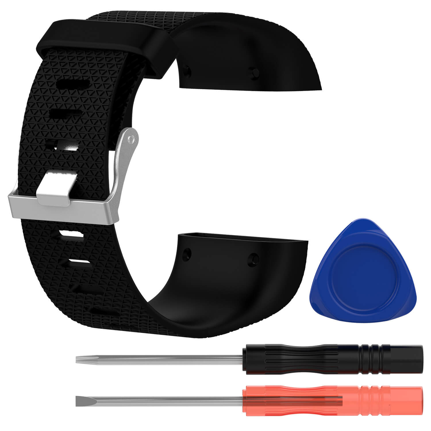 fitbit surge replacement band black