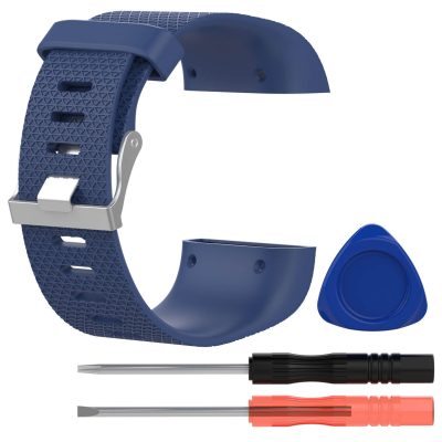 fitbit surge replacement band dark blue