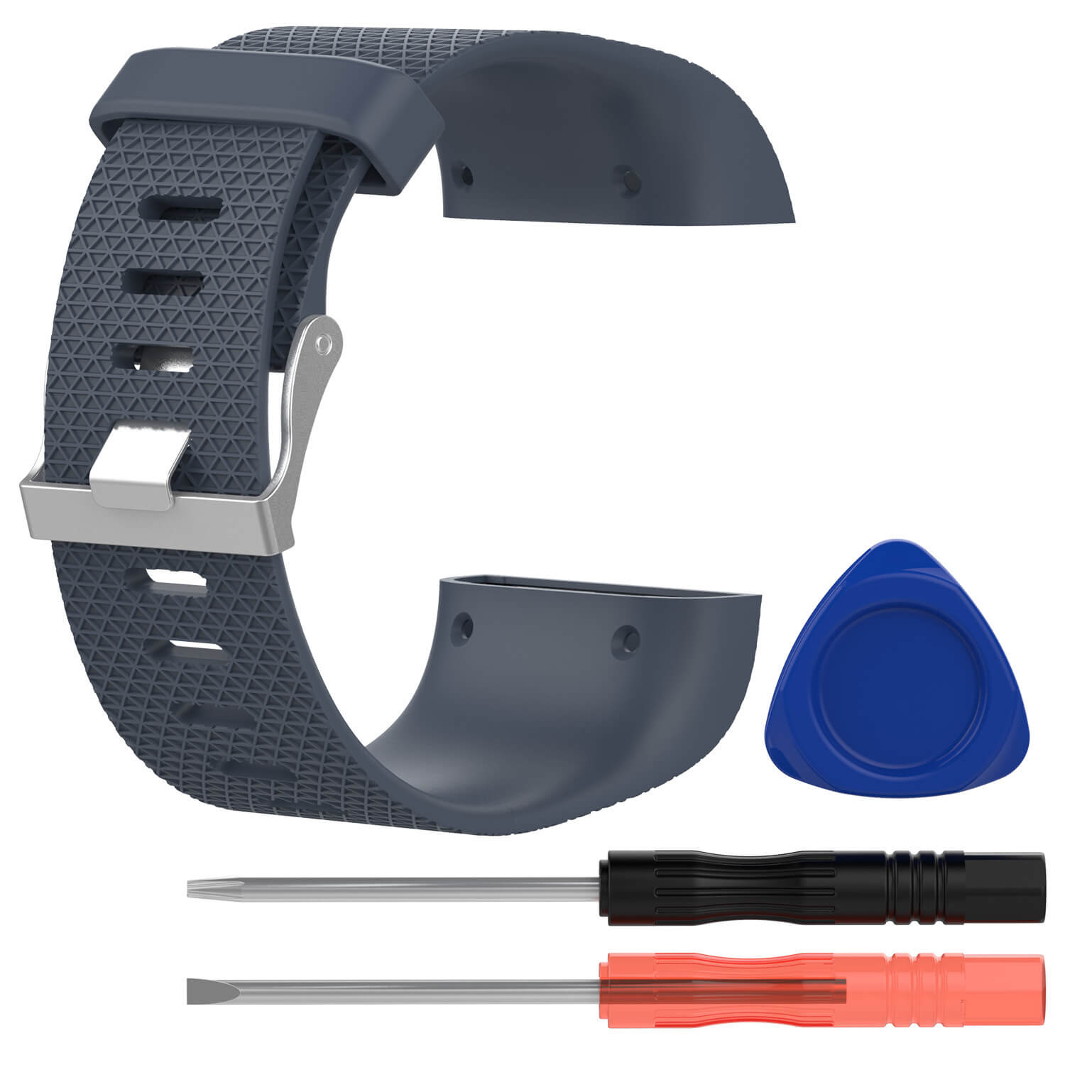 fitbit surge replacement band gray