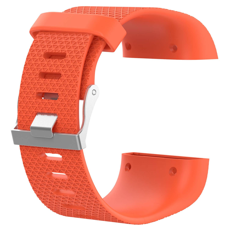 fitbit surge strap replacement orange
