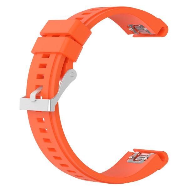 orange garmin Forerunner band
