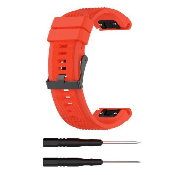 orange-texture-surface-garmin-fenix-5-plus-strap