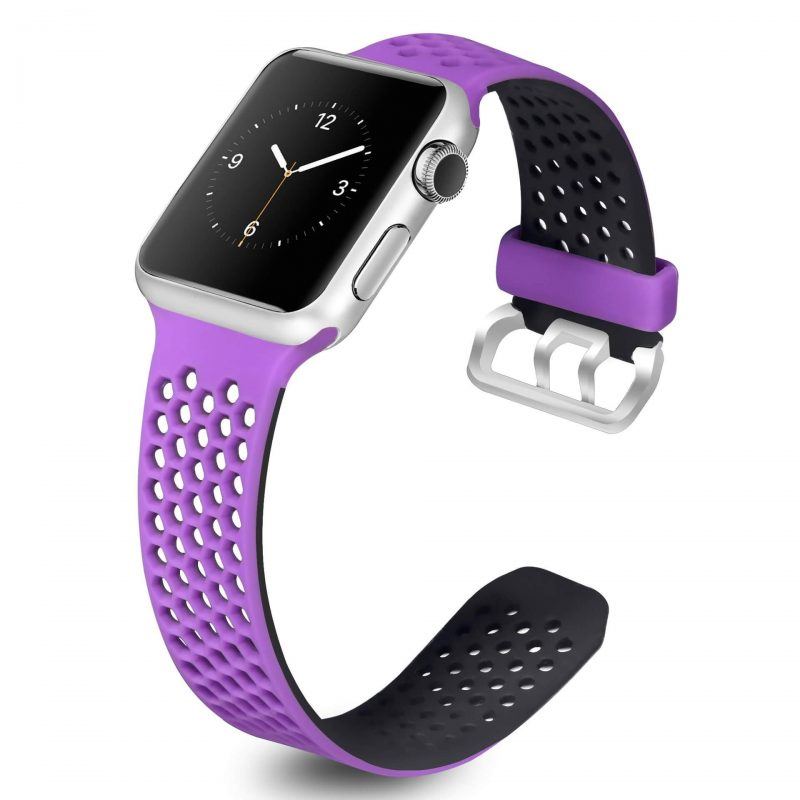 purple and black apple watch band