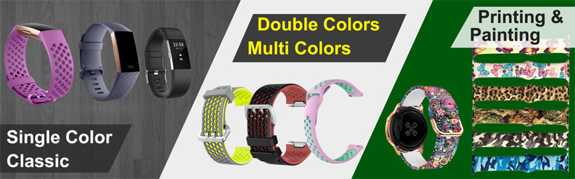 single-color-wristband-double-colors-strap-printing-and-painting