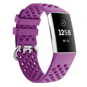 watch band for fitbit charge 3 purple