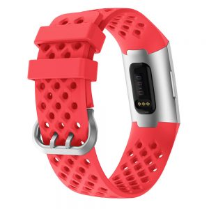 watch band for fitbit charge 3 red back