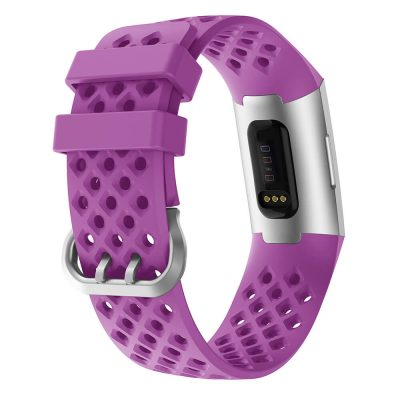 watch straps for fitbit charge 3 wristband purple back