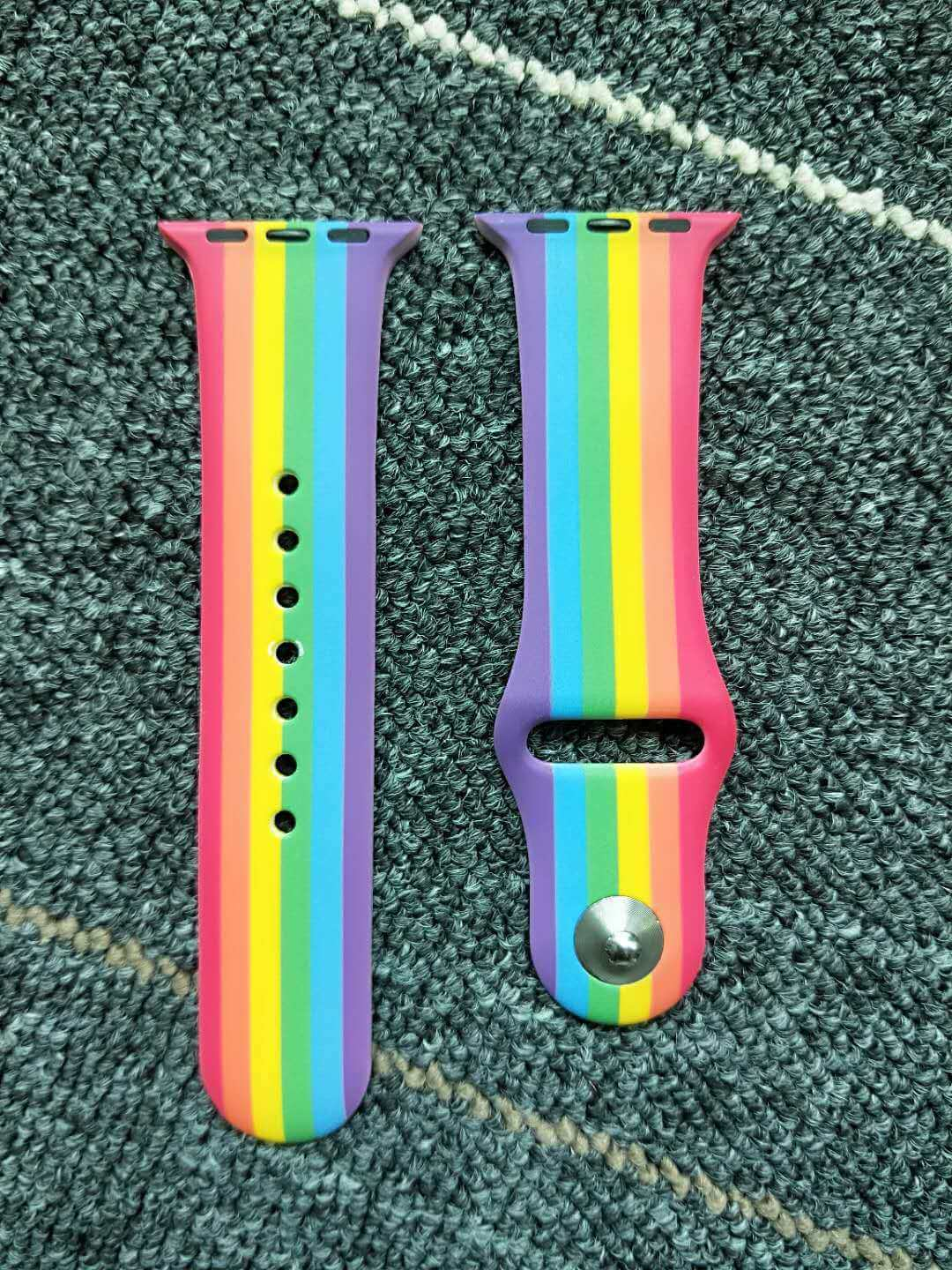 Rainbow colors Apple Watch bands