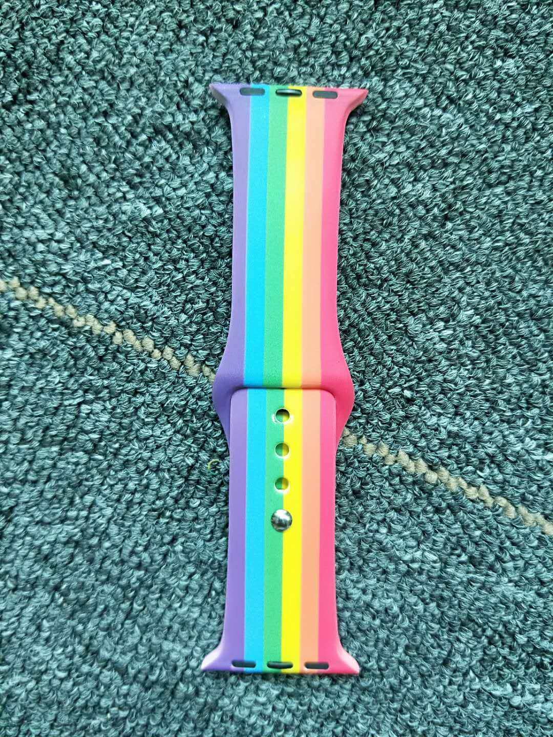 Rainbow color band for Apple Watch Nike Sports