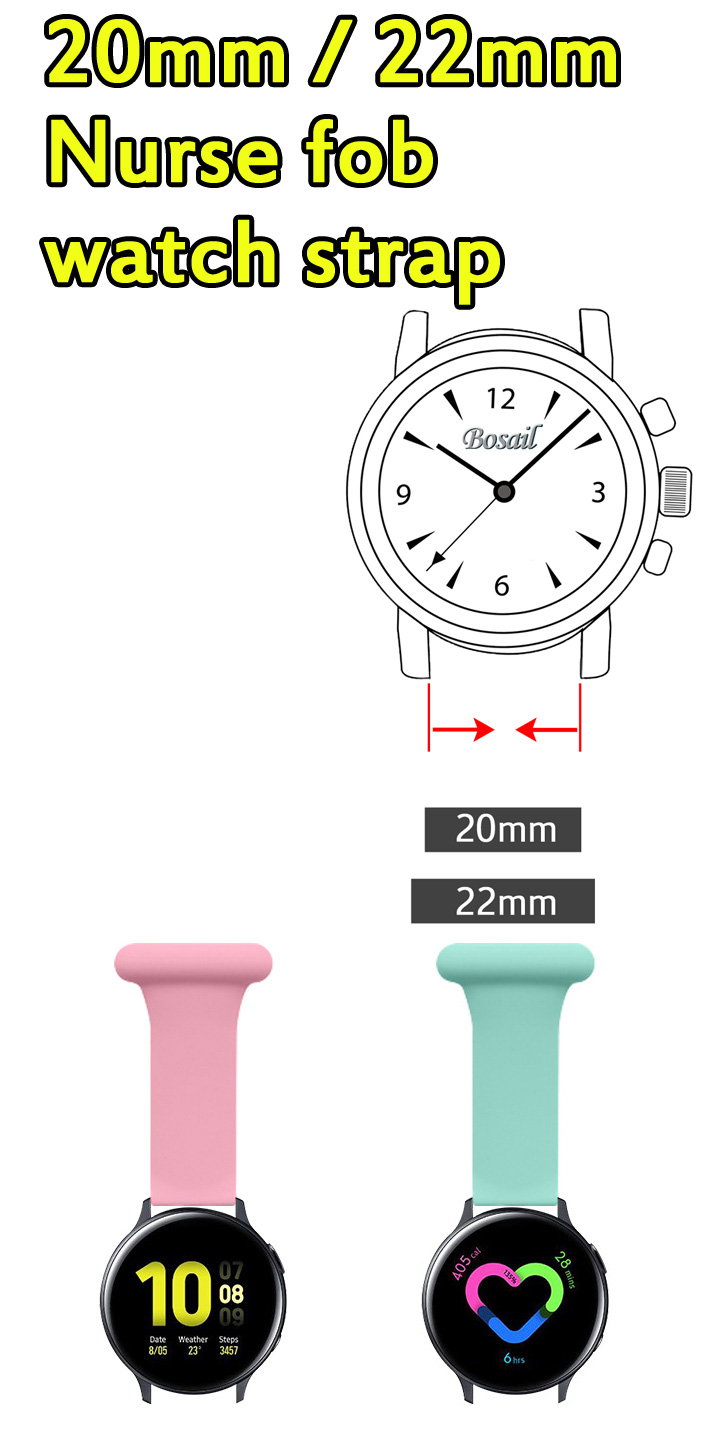 20mm 22mm Fob Watch Strap for Smart Watch