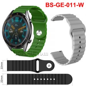 22mm Standard Wavy bump silicone rubber watch strap