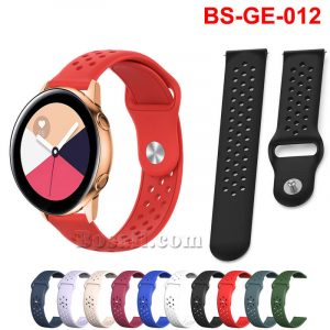 22mm Breathable Holes Silicone Watch Band Strap