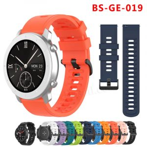 20mm 22mm Standard Width Silicone Rubber Watch Band Strap