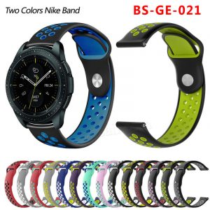 20mm 22mm two colors silicone watch band BS-GE-021