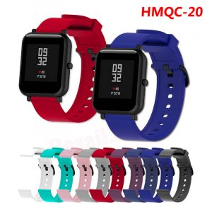20mm silicone rubber Standard Width Watch Band Strap