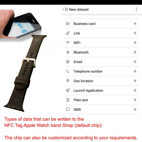 What data types can be written to NFC straps