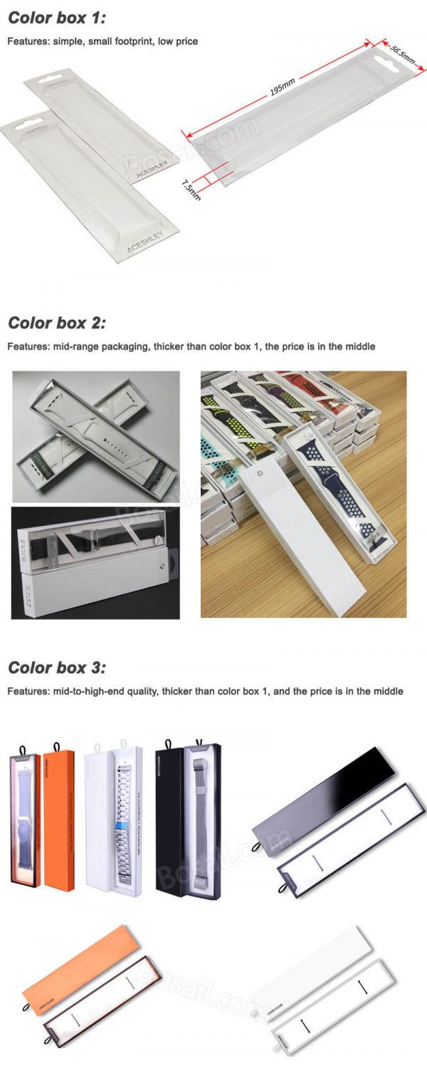 NFC 213 Tag Apple watch band strap color box