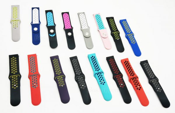 18mm-20mm-22mm-two-colors-breathable-holes-Nike-watch-band-colors