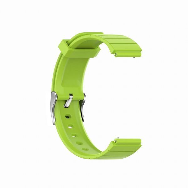 18mm Convex silicone watch band green