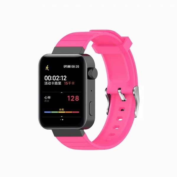 18mm Convex watch band pink