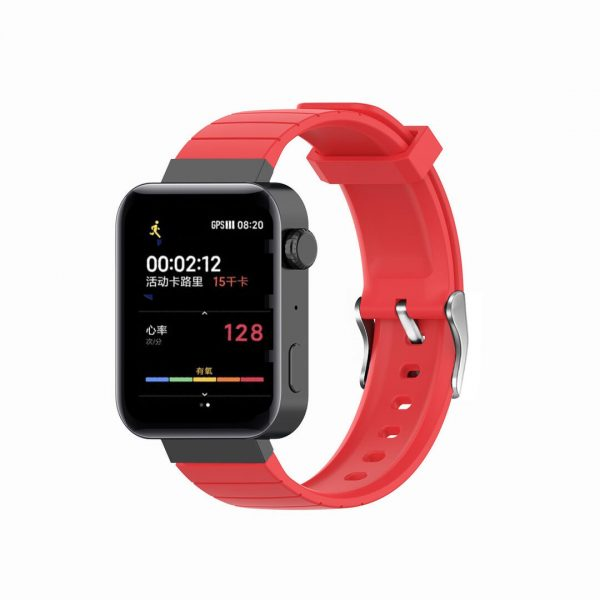 18mm Convex watch band red