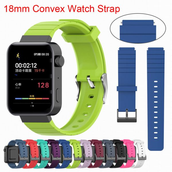 18mm-Convex-watch-band-strap-green