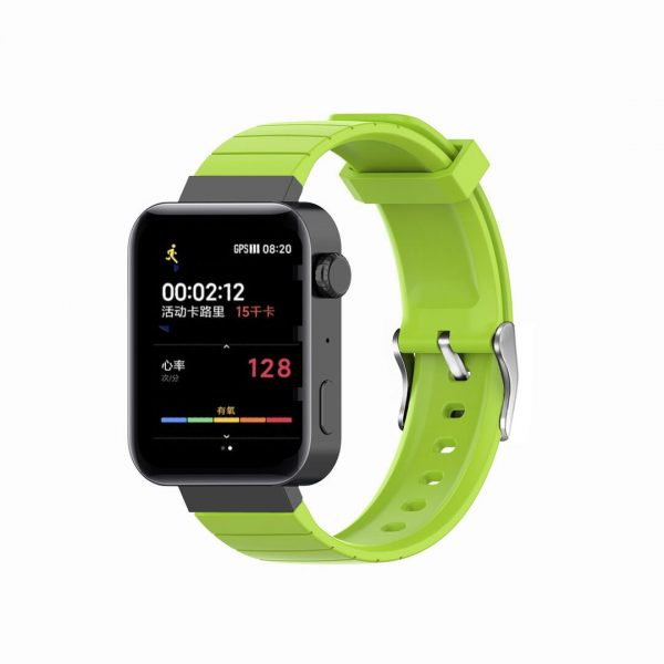 18mm Convex watch band strap green