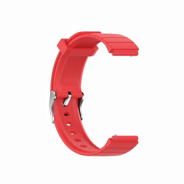 18mm Convex watch band strap red