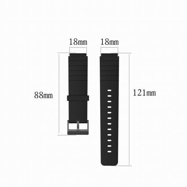 18mm Convex watch strap size