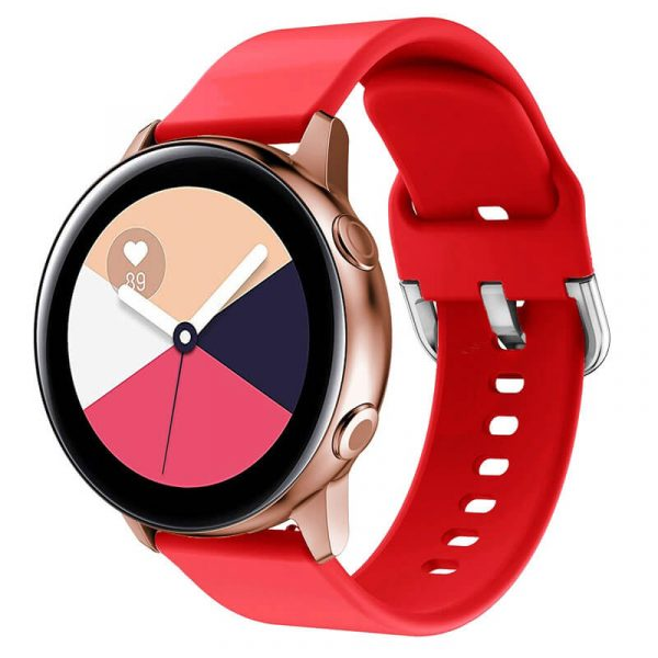 20-22mm-Red-Rubber-Watch-Strap