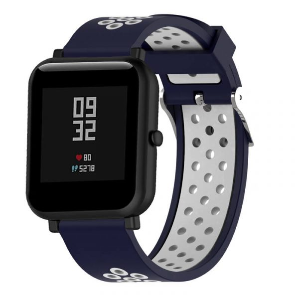 20mm-22mm-Double-colors-Nike-Watch-band-Dark-blue-White