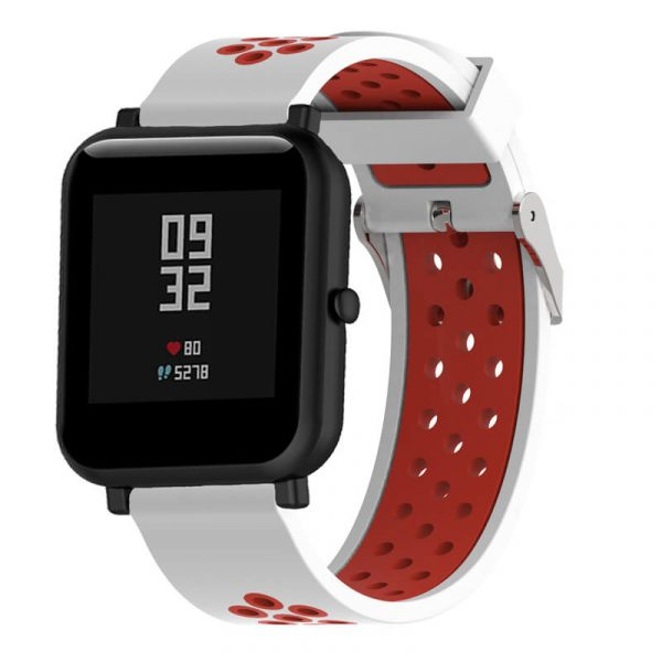20mm-22mm-Double-colors-Nike-Watch-strap-White-Red