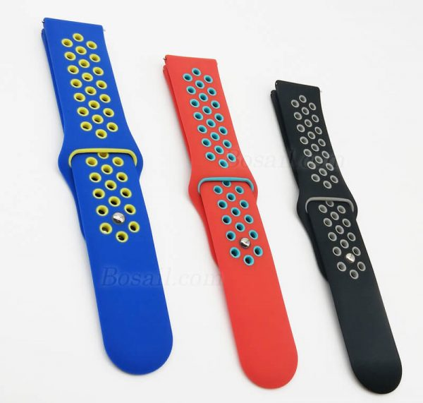 20mm-22mm-Silicone-Breathable-holes-Watch-Band