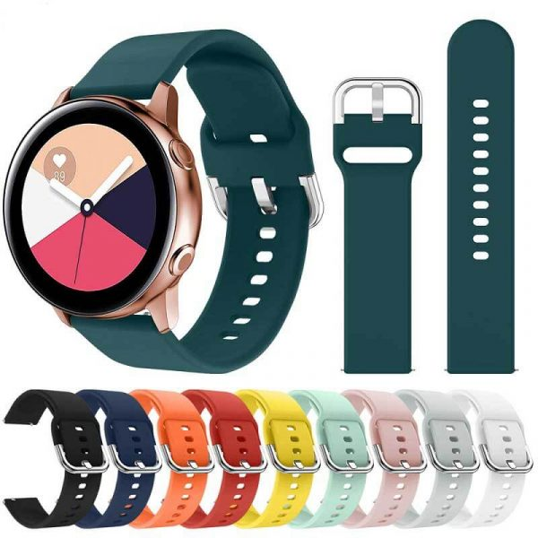 20mm-22mm-Silicone-Watch-band-for-Samsung-Galaxy-Watch-Active-42mm-Gear-S2-Sport-Waterproof-Wrist-band
