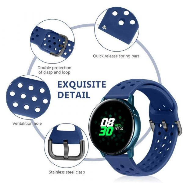 20mm-22mm-Silicone-band-for-Huawei-Watch-GT-2-Samsung-Galaxy-gear-s3-Amazfit-Bip-Smart-watch-strap